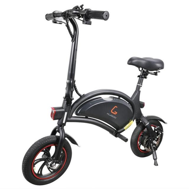 KUGOO Kirin B1 Folding Electric Scooter 250W Brushless Motor Disc Brake - Black